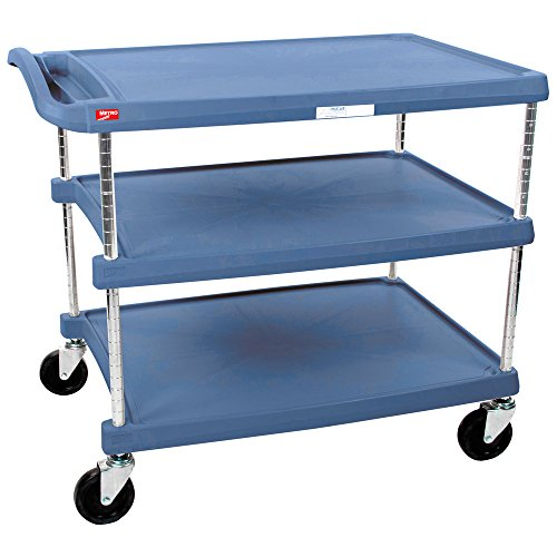 - InterMetro Industries MY2030-34BU Mycart Series Blue Polymer Utility Cart With Built-In Microban Antimicrobial Product Protection, 3 Shelf, 35.38 X 34.38 X 23.5-Inch