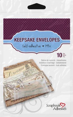 Hair Keepsake (3L Scrapbook Adhesives Keepsake Envelopes, Mixed 10pk, Clear)