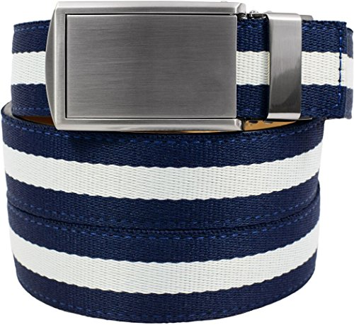 SlideBelts Canvas Belts (Sailor with Silver Buckle)