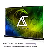 Akia Screens Mini Tabletop Series, 35-inch 4:3, Portable Pull-up Anti-Crease Indoor/Outdoor Home/Office Projector Screen, MaxWhite 1.1 Gain (Ultra HD 4K/8K), Includes Carrying Bag