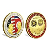 Challenge Coin Commemorate 2018 USA Presidential Donald Trump Summit Singapore with Leader Of North Korea Kim Jon-Un Peace Talks