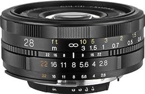Voigtländer Color Skopar SL II - Objetivo para cámara Nikon AI-S (F2,8/28mm N), color negro