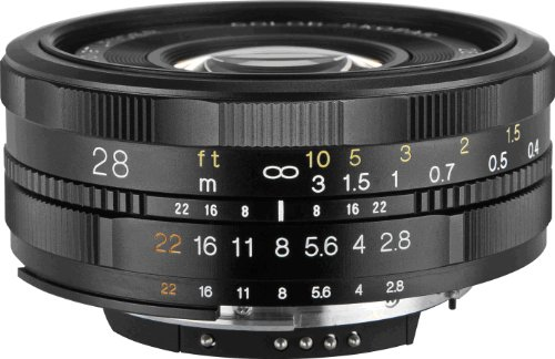 Voigtlander 28mm f/2.8 SL-II Aspherical Manual Focus Lens for Canon EOS Film & Digital Cameras by Voigtlander