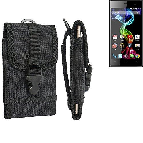 bolsa del cinturón / funda para simvalley MOBILE Pico RX-482, negro   caja del teléfono cubierta protectora bolso - K-S-Trade (TM)