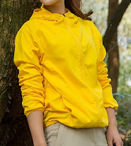 Hooded Yellow Dry Quick Howme Plus Workout Color Women Jacket Pure Size Sunscreen gqn4TRwF6