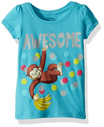 - Curious George Girls' Toddler, Aqua, 4T