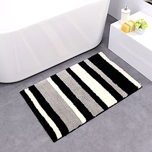 Uphome Colorful Microfiber Striped Bathroom