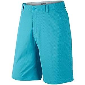 Nike Mens Dri-FIT Fairway Stripe Short Turquoise/White 32