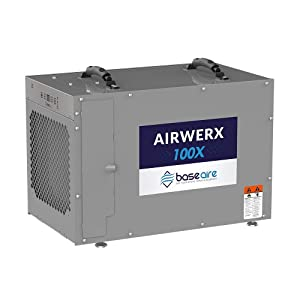 BaseAire AirWerx100X Whole House Dehumidifier, Removal 100 Pints at AHAM