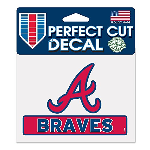 (Wincraft MLB Atlanta Braves WCR17768014 Perfect Cut Color Decal, 4.5