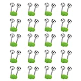 20Pcs Fishing Rod Bell Bite Lure Alarm Twin Bell Ring
