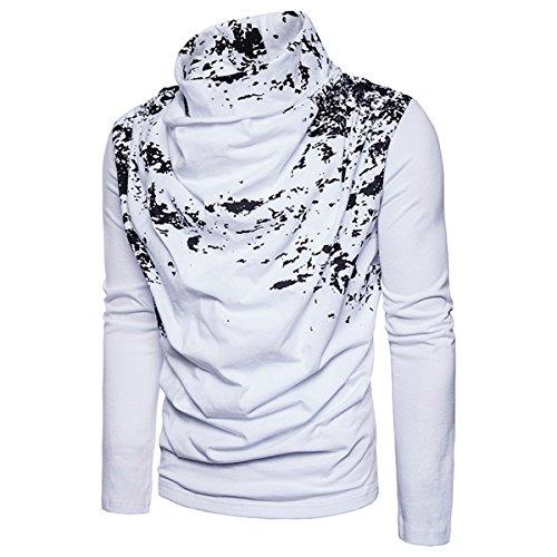 ae50ee66e97c ZYFGfree European Size Fashion Spray Painting Heap Collar Long Sleeve  Knitting Sweater (White