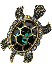 Jewelry Women's Crystal Big Turtle Stretch Rings Scarf Ring Buckle Clip Women