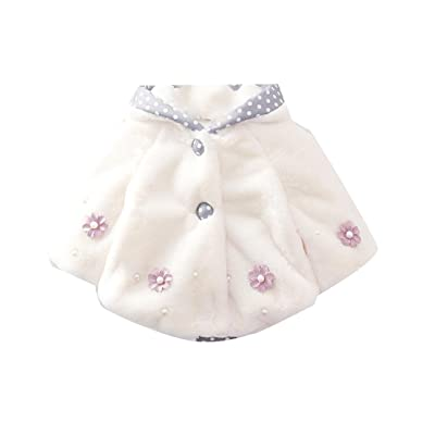 Abetteric Baby Zip Smocked Waist Hooded Solid Luxury Girls Parka Jacket
