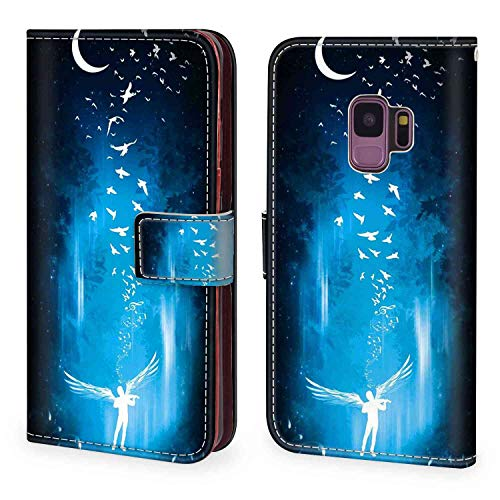 Angel Wings Wallet Case Fit for Samsung Galaxy S9 (2018) 5.8