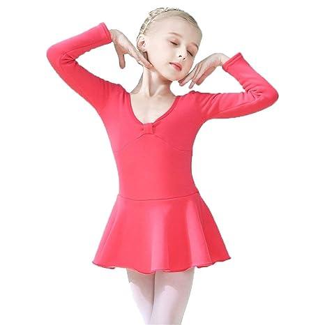 Wuxingqing Tutú de Ballet Niñas, Manga Larga, algodón Suave ...