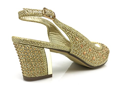 Wedge Shoes Heel Enzo Wedding Lime01 Womens Sandal Low Romeo Rhinestone Open Gold Toe zCxP4wBxq