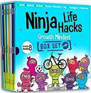 Ninja Life Hacks Growth Mindset 8 Book Box Set (Books 9-16: Perfect, Money, Anxious, Gritty, Dishonest, Shy, U