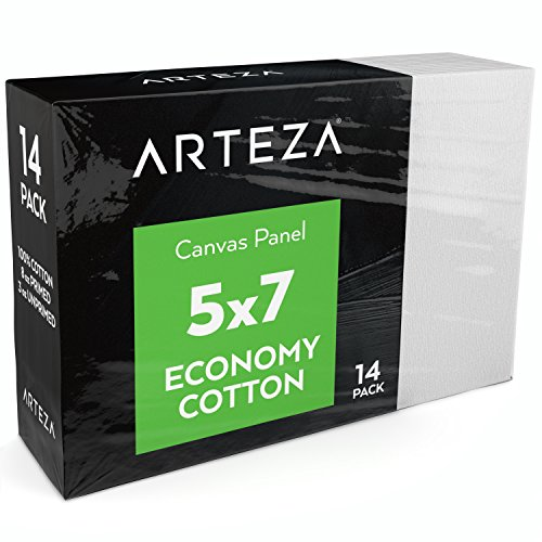 Arteza Painting Canvas Panels, 5x7