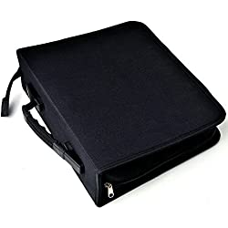 aokur 288 CD DVD Game Disc Blue-Ray Media Binder Book Sleeves Storage Organizer Zipper Carrying Bag Case