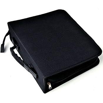 cc9872af1315 aokur 288 CD DVD Game Disc Blue-Ray Media Binder Book Sleeves Storage  Organizer Zipper Carrying Bag Case