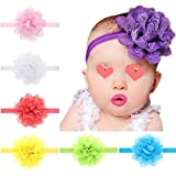 CLKJDZ 13PCS Baby Girls Elastic Floral Headbands (13PCS, Colorful)
