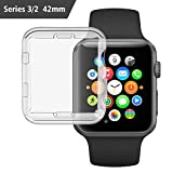 Etmury cdy-279 Apple Watch 3 Case 38mm, iwatch Screen Protector TPU All-Around Protective Case 0.3mm HD Clear Ultra-Thin Cover for New Apple Watch Series 3/2(2017)
