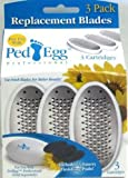 Telebrands PedEgg Replacement Blades with Emery Pads, 3 pack