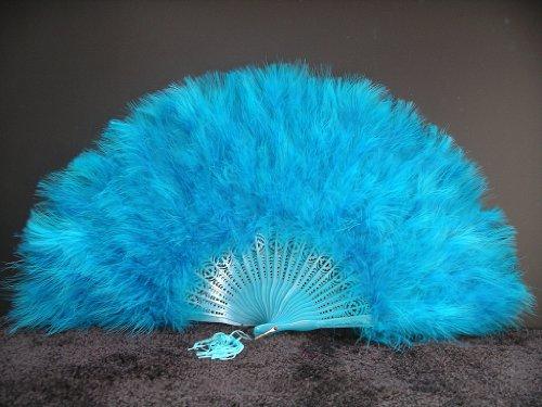 peacock feather hand fan - 9