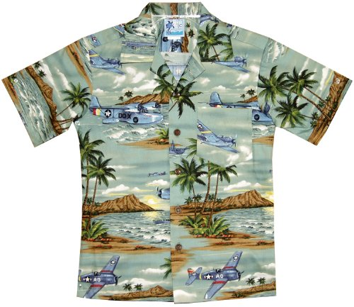RJC Boys Island Aviation Shirt in Green - 18 by RJC (Image #3)