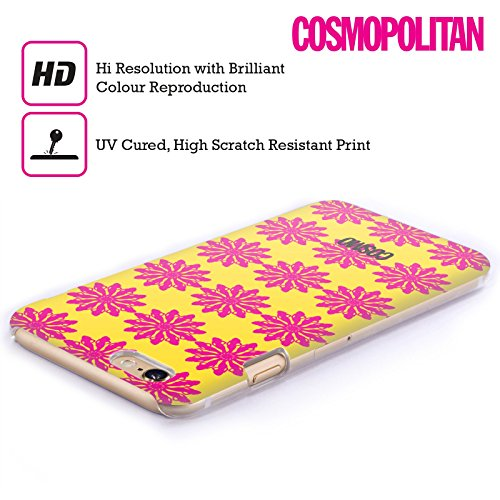 Official Cosmopolitan Yellow And Pink Floral Patterns Hard Back Case for Apple iPhone 6 / 6s