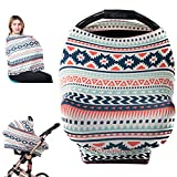 Premium Soft - Baby Car Seat Canopy, Nursing Cover, Breastfeeding Cover, Shopping Cart Cover, Stroller Sunshade, High Chair Cover, Car Seat Covers for Girls and Boys, Baby Seat Cover - Aztec