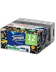 Tempo Box met papieren zakdoeken, 12 dozen met 80 wegwerpzakdoeken, 4 lagen, Box Limited Edition, gesigneerd, 4 verschillende afbeeldingen, recyclebare verpakking van natuurlijke oorsprong.