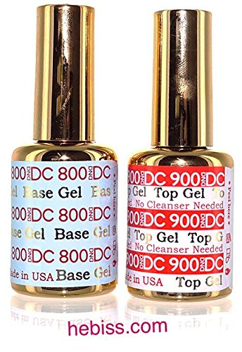 800 Clear Lamps - DND DC Gel Base and No Cleanse Top 0.6 oz 18ml