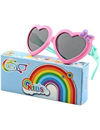 Soft Rubber Kids Cute Heart Polarized Sunglasses UV400...