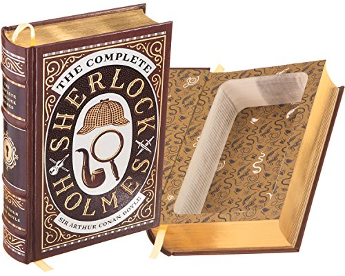 Real Hollow Book Safe - Sherlock Holmes by Sir Arthur Conan Doyle (Leather-bound) (Magnetic Closure Optional)