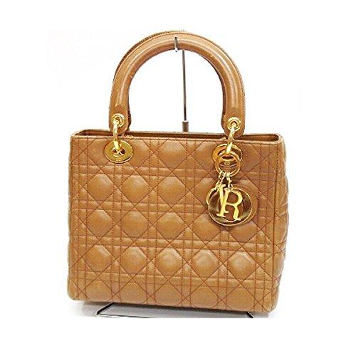 (クリスチャンディオール) Christian Dior ラムスキン レディディオール ハンドバッグ ブラウン [中古] B01DBDXQVW