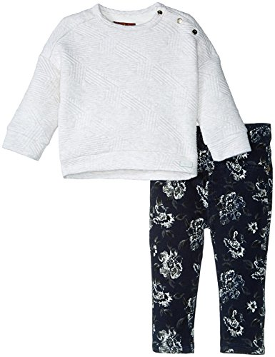 Price comparison product image 7 For All Mankind Girls' The Skinny 5-Pocket Stretch Twill Jeans and Quilted Pullover 7fgt1764,  Marshmallow,  2T