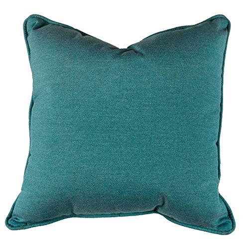 Sunbrella 15'' x 15'' Pillow With Welt & Dacron Insert Fabric, Cast Lagoon