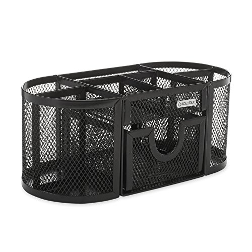 Rolodex Mesh Collection Oval Supply Caddy Black (1746466)