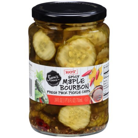 Spicy Maple Bourbon Pickle Chips Hot 24 oz. Jar ()