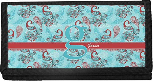 Peacock Canvas Checkbook Cover (Personalized)