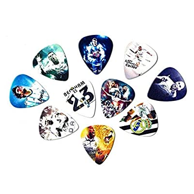 Real Madrid Legends Guitar picks (10 medium picks in a packet)(Collectibles for fans): Musical Instruments