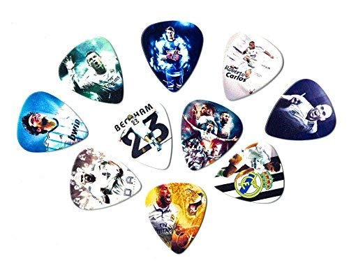 Real Madrid Legends Guitar picks (10 medium picks in a packet)(Collectibles for fans)
