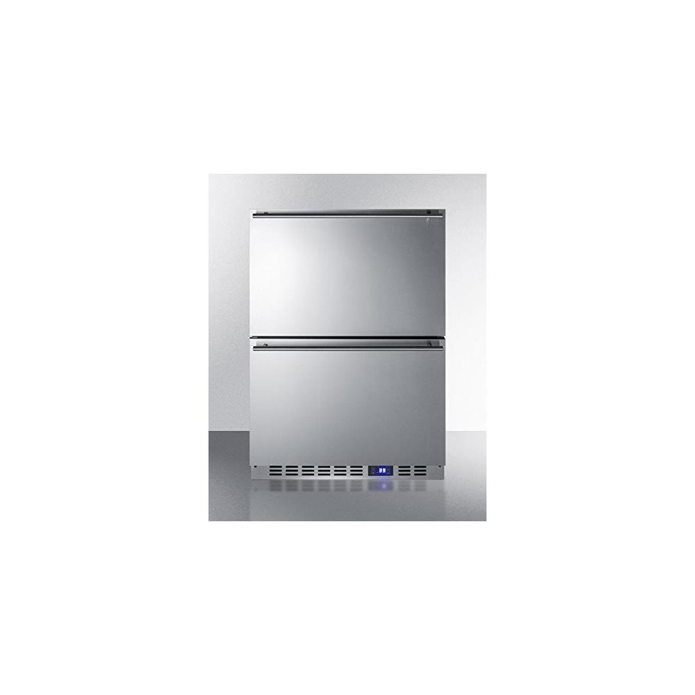Summit FF642D Drawer Refrigerator, Stainless Steel
