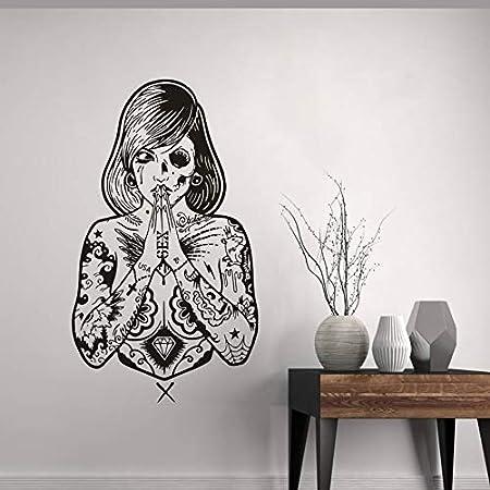 zhuziji Tattoo Studio Vinyl Wall Sticker Creative Tattoo Girls ...