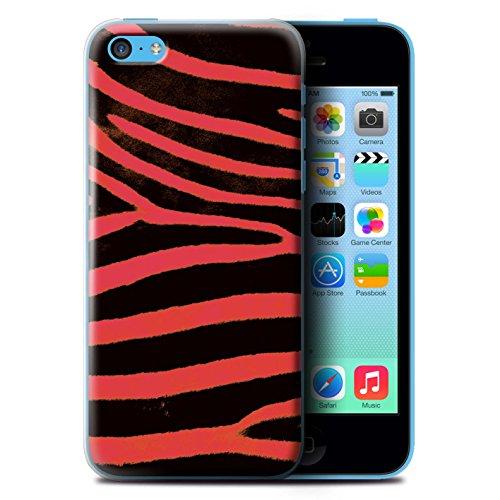 Coque de Stuff4 / Coque pour Apple iPhone 5C / Rouge Design / Zèbre animale Peau/Motif Collection