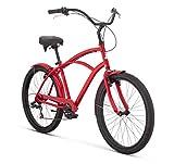 """Raleigh Bikes Retroglide 7 Men's Cruiser Bike, 26""""/One Size, Red"""