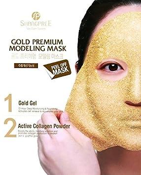 Shangpree – Gold Premium Modeling Mask – Anti Aging Mask with Gold Collagen – Moisturising Rejuvenating Masks
