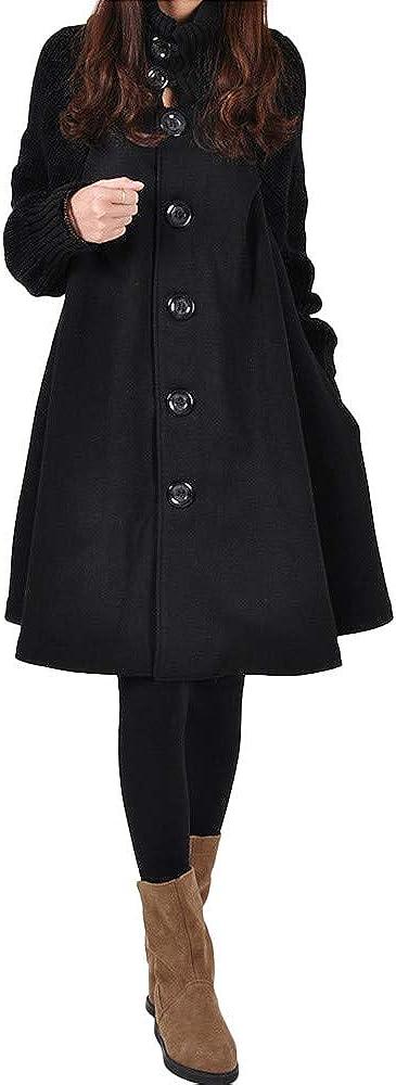 OverDose mujer Largo Invierno Abrigo Tallas Grandes Camisa Suelta De Bolsillo De Color SóLido Abrigo Ocasional De AlgodóN Abrigo De Moda De Abrigo Nuevo